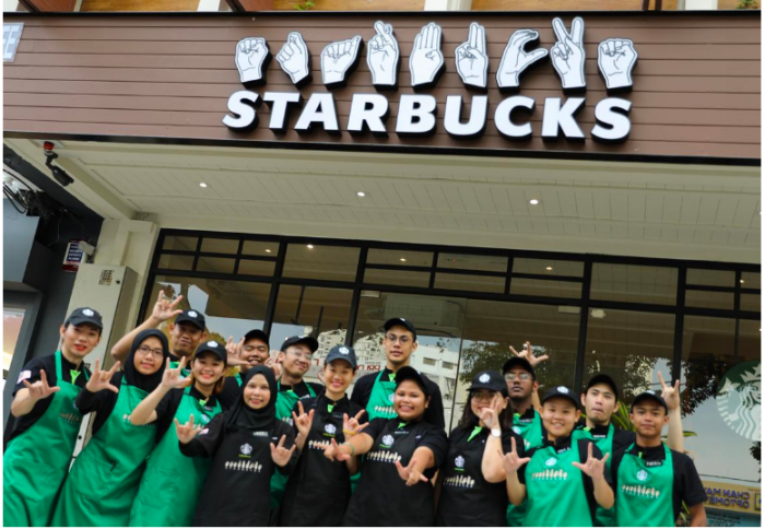 A New Starbucks Outlet Just Opened In Penang And It's Run By A Team Of Deaf Employees