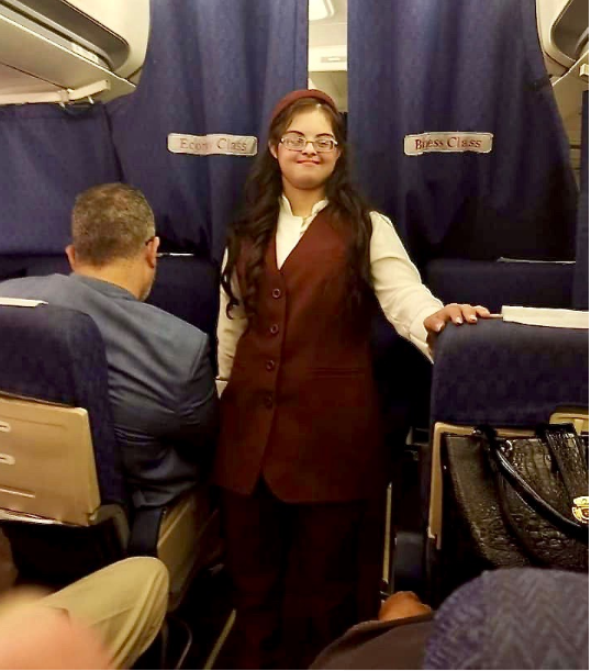 First Egyptian flight attendant with Down syndrome flies from Cairo to Khartoum